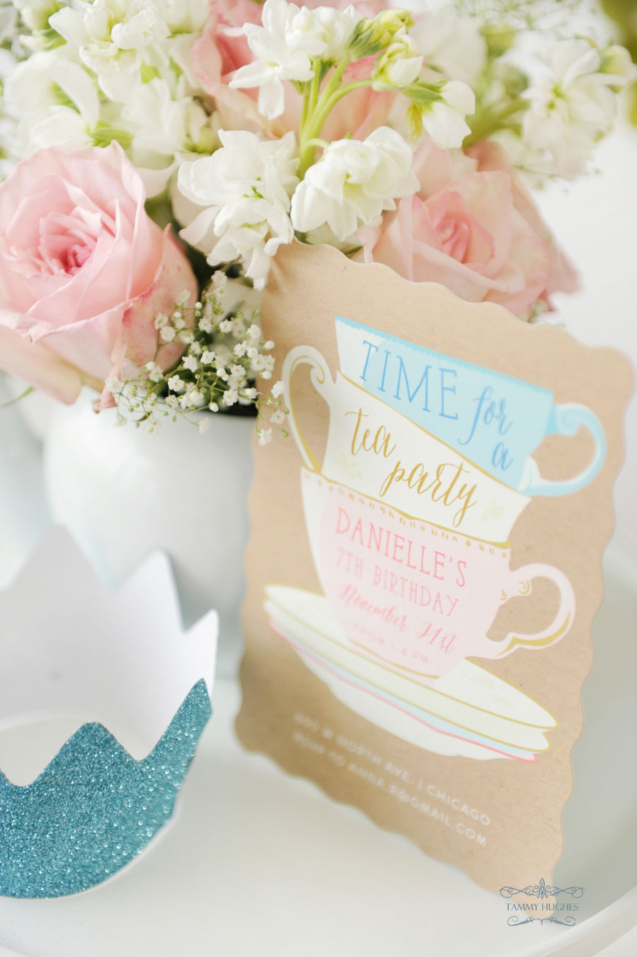 Sneak Peek of a Tea Party for Minted with the Happy Wish Company