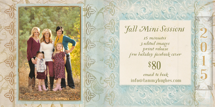 Fall Mini Sessions ~ time to get ready for the holidays!